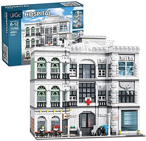 Bloques de construcción de hospitales Modelo DIY Arquitectura Edificios modulares Compatible con Lego - 4953PCS
