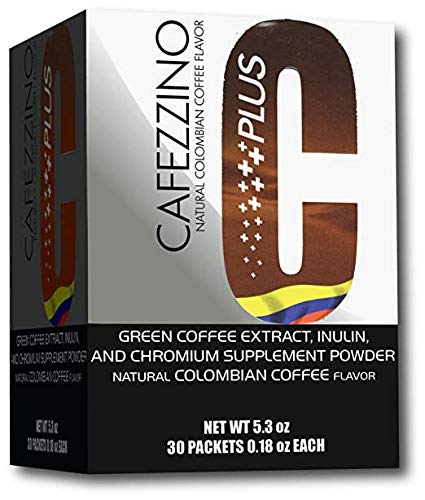 Omnilife Cafezzino Plus, Box with 30 Sachets (150G) with Chromium and Green Coffee Bean Extract Natural Coffee by Liss