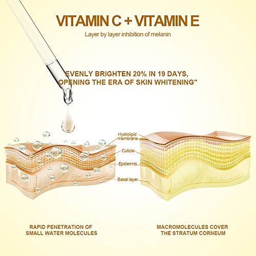 51KSAZ5QN6L - Vitamin C Serum for Face with Hyaluronic Acid, Vitamin E & Niacinamide (B3) Face Serum for Anti Wrinkle, Anti Aging, Hydrate & Dark Spot Vitamin C Oil Facial Serum