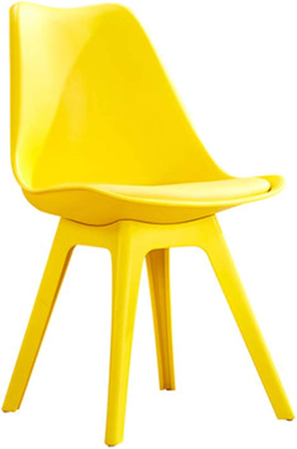 Chair Chair Modern Simplicity Easy Assembly One-Piece Design Restaurant Study Room (color   Yellow)