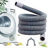 Moocuca Manguera de desagüe, tubo de desagüe 1M, Tubo Desague Lavadora,PVE, Incluye soporte y abrazadera de manguera,para lavadora y lavavajillas