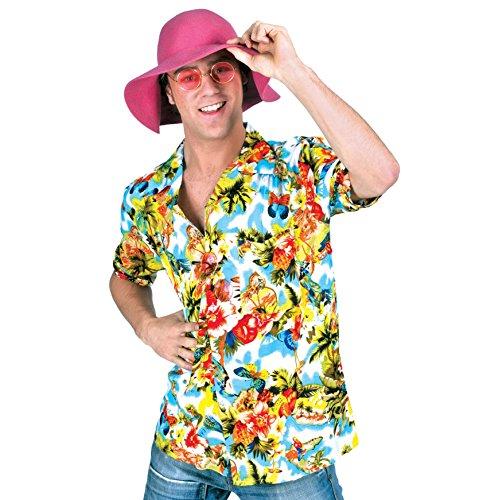 Sa chemise hawaïenne multicolore partie hawaïen