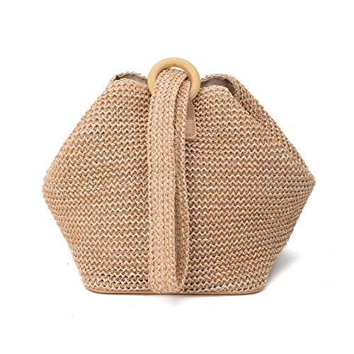 Ardentity Strohtasche Umhängetasche, Europäischer Stil Rattan Stroh Schulter Beutel Handgewebte Strand Taschen für Das Gifting, Spielraum Tägliche Verwendung