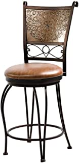 Powell Bronze with Muted Copper Stamped Back Counter Stool, 24