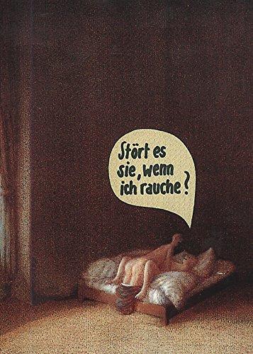 Postkarte A6 • 5251 ''Stört es Sie, wenn ich rauche?'' von Inkognito • Künstler: Michael Sowa • Satire • Sex