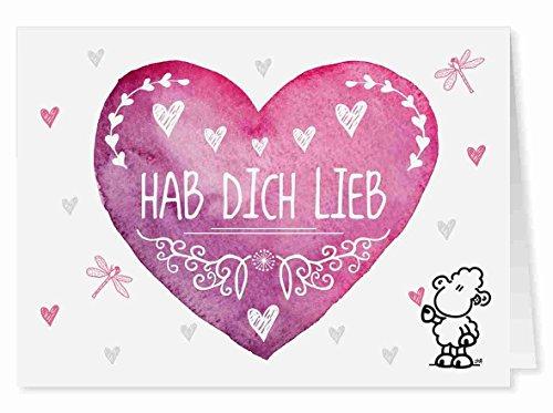 09 - Hab Dich Lieb - Midi-Grußkarte von Sheepworld