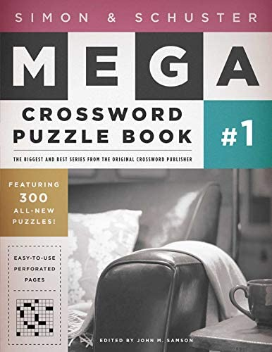 Simon Schuster Mega Crossword Puzzle Book 1 1 S S Mega Crossword Puzzles product image
