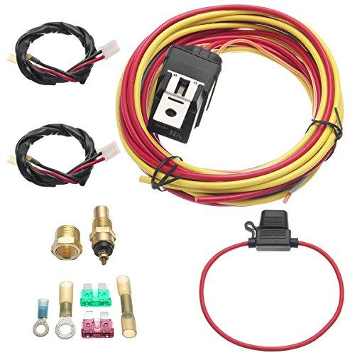 Tutoy Elektrischer Ventilator Relais Kabelbaum Thermostat Dual Sensor Kit 40 Amp Heavy Duty