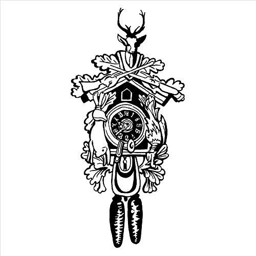 SFSDF Reloj Creativo Autoadhesivo Pegatinas de Pared decoración para el hogar Dormitorio Sala de Estar Vinilo extraíble Tatuajes de Pared Abstracto Ciervo Mural 42x88 cm Blanco