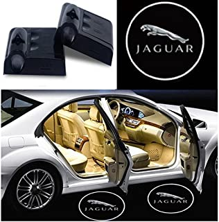 JiangJing 2 Pcs Wireless Car Door Led Welcome Laser Projector Logo Light Ghost Shadow Light Lamp Logos for Jaguar Logo