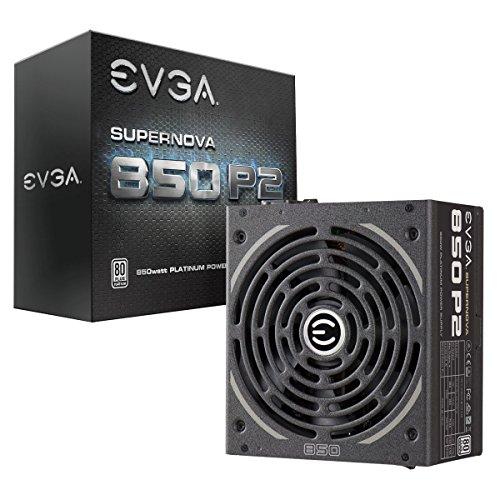 EVGA SuperNOVA 850 P2, 80+ PLATINUM 850W , Fully Modular , EVGA ECO Mode, 10 Year Warranty , Includes FREE Power On Self Tester, Power Supply 220-P2-0850-X1,Black