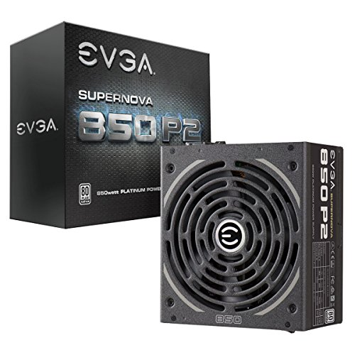 EVGA SuperNOVA 850 P2, 80+ PLATINUM 850W , Fully Modular , EVGA ECO Mode, 10 Year Warranty , Includes FREE Power On Self Tester, Power Supply 220-P2-0850-X1,Black