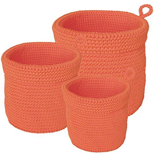 laroom 13291 – Set 3 paniers, Couleur Orange