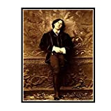 IUYTRF El dramaturgo Oscar Wilde Póster fotográfico Vintage Napoleón Sarony Póster de seda Pintura decorativa -50X75 cm Sin marco 1 Uds