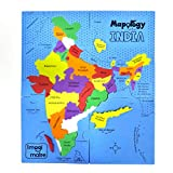 Imagimake: Mapology India- States of India- Play and Learn India Map in Puzzle- Jigsaw Puzzle- Educational Toy- for Boys & Girls