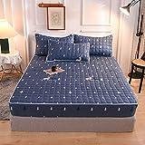 BOLO Protector de colchón impermeable transpirable, protector de colchón sin agrietamiento, falda extra profunda | funda de...