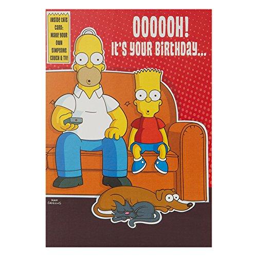Hallmark Geburtstagskarte für Sie Humor The Simpsons 3D-Funktion, Medium