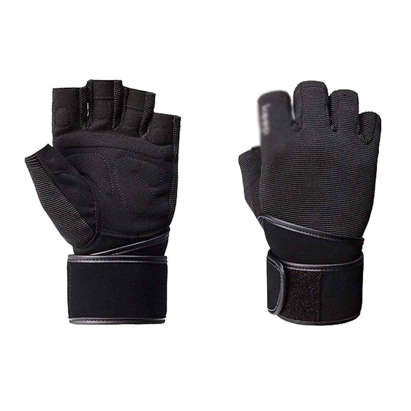 急ぐにぎやか縮れた滑り止めスポーツ手袋、フィットネスアジャスタブルモーション手首保護プルアップ通気性抗足首保護ギア、2本 (Size : 20-22CM)