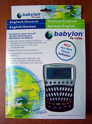 Nuovo Dizionario elettronico BABYLON IT/GR Traduttore Italiano - Germania