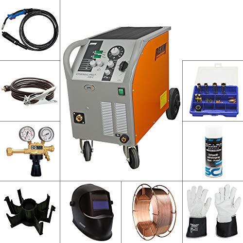 REHM MIG/MAG Schweißgerät SYNERGIC.PRO² 230-2 AM im SET 2, inkl. SCAPP Massekabel, SCAPP Schweißerhandschuhe, usw.