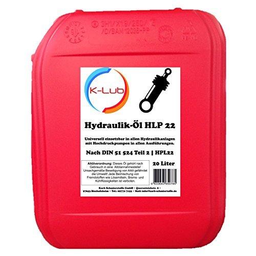 20 Liter K-Lub HLP 22 Hydrauliköl | HLP22 ISO