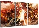 Attack on Titan Motiv, 3-teilig auf Leinwand (Gesamtformat: