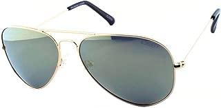 IDEE Mirrored Aviator Unisex Sunglasses - (IDS2001C67PSG|58|Gold Revo-Smoke Color Lens)