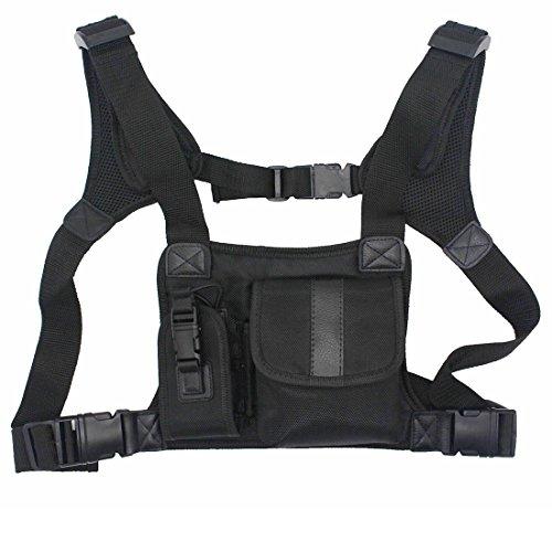 GoodQbuy Universal Radio Harness Chest Rig Bag Pocket Pack...