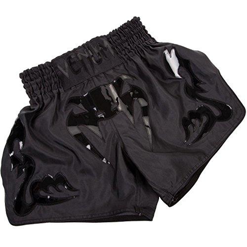 Venum Herren Thaibox Shorts Thaibox Shorts Bangkok Inferno, schwarz (Matte/Black), L