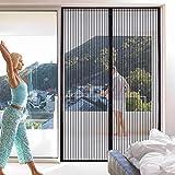 Mosquitera magnética Hengda para puerta de balcón, salón, terraza, montaje adhesivo sin agujeros, puerta corredera