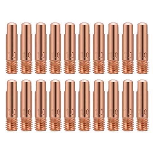Schweiß Kontaktspitzen 1mm Stromdüse 20Stk Kupfer kontaktspitze für 15AK MIG/MAG-Schweißbrenner Verbrauchsmaterial 1,0 mm