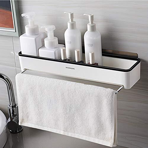 BEAU-plank wit zwart badkamer/keuken multifunctionele planken met toren bar muur gemonteerd douche houder badkamer accessoires