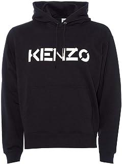 Kenzo Mens Chest Logo Hoodie L Black