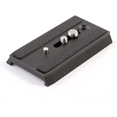 """501PL Sliding Dovetail Quick Release Plate with 1/4""""-20 & 3/8""""-16 Mounting Screw for Manfrotto 503HDV 701HDV MH055M0-Q5 for 501, 503 & NG Tripod Heads, RC5 Quick Release QR System, Replaces #3433PL"""