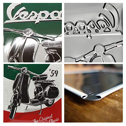 Nostalgic-Art Cartel de Chapa Retro Vespa – The Italian Classic – Idea de...