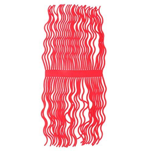 T TOOYFUL 1 Bündel Fliegenbinden Wurm Körper 60 Beine Squirmy Wurm Bindematerial Angeln DIY - Rot