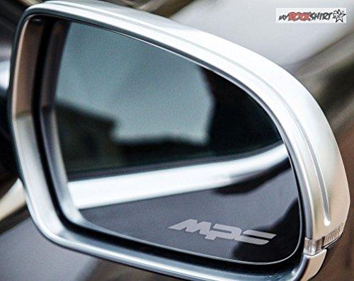 2 x Mazda 3 6 MPS silber für Außenspiegel Spiegel Scheibe Glas Milchglas Frost Frostfolie Effekt Frost Milch Gravur Aufkleber aus Hochleistungsfolie für alle glatten Flächen von myrockshirt®