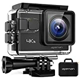 APEMAN A80 Action Camera 4K 20MP Wi-Fi Sports Cam 4X Zoom EIS 40M Waterproof Underwater Camcorder with 19 Accessories and Carrying Case, for Yutube/Vlog Videos