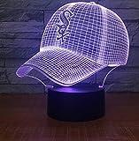 Sombrero Siete Colores Luz De Atmósfera 3D Decoración Del Hogar Toque Inducción Dormitorio Luz De Noche