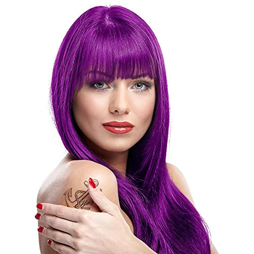 Manic Panic Purple Haze Hair Color - Amplified - Semi Permanent Hair Dye - Very Dark Warm Purple Color - For Dark & Light Hair - Vegan, PPD & Ammonia-Free - For Coloring Hair For Men & Women