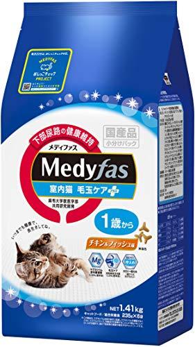 メディファス室内猫毛玉ケアプラス1歳からチキン&フィッシュ味1.41kg(235gx6)