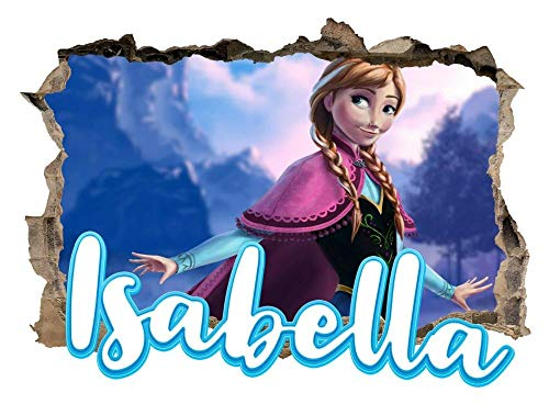 DQPCC Wandtattoos Personalised Any Name Frozen Wall Decal 3D Art Stickers Vinyl Room Bedroom 10