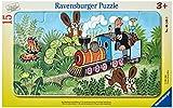 Ravensburger Kinderpuzzle - 06349 Der Maulwurf als Lokführer - Rahmenpuzzle für Kinder ab 3 Jahren, mit 15 Teilen