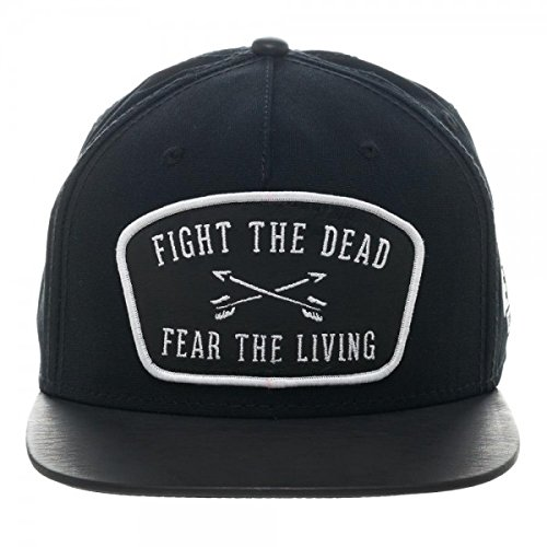 Bioworld The Walking Dead Fight The Dead Fear The Living Leather Patch  Snapback Hat 561cba1839a