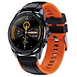 KINGXBAR Smart Watch, Fitness Tracker with 1.3' Full Touch Screen, GPS Android Smartwatch with Sleep Monitor/Heart Rate Monitor IP68 Daily Waterproof Compatible with Android and iOS for Women and Men