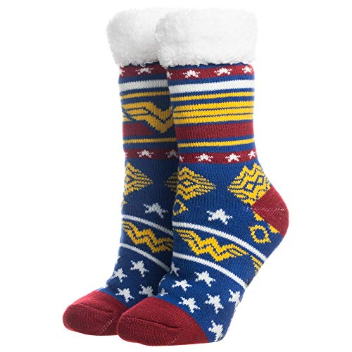 Bioworld Merchandising / Independent Sales Wonder Woman Cozy Slipper Socks Standard