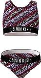Calvin Klein Bralette Bikini Set-Print Juego, Intense Power Logo AOP Girls, 14-16 Jahre para Niñas