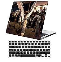 YixiuGG 切り抜きデザインプラスチック製ウルトラスリムライトハードケースキーボードカバー互換MacBook Pro13インチ2012-2015リリースRetinaディスプレイCDROM /タッチなし、モデルA1425 / A1502、フェザーシリーズ 0175