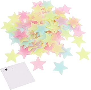 Glow in The Dark Stars for Ceiling 200 Pcs 3D Wall Stickers for Kids Bedroom Wall Decal Art Decor Comes with 200Pcs Adhesi...