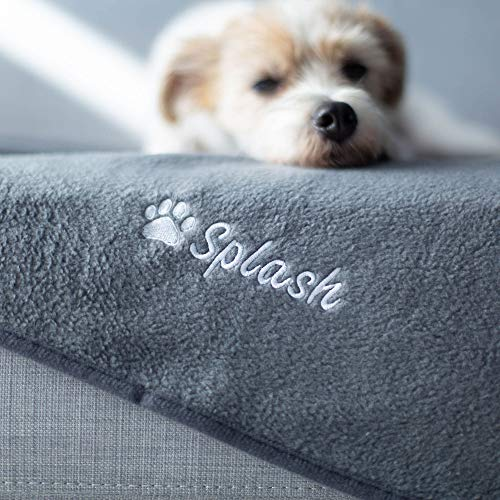 """Give Warmth Buy One Give One Customizable Premium Dog Blanket 30"""" x 40"""" - Embroider Your Dog's Name on This Cozy Fleece Blanket"""